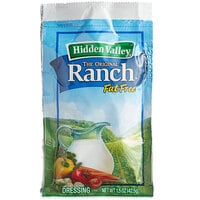 Hidden Valley 1.5 oz. Fat Free Ranch Dressing Packet - 84/Case