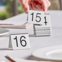 Choice 1 to 25 Stainless Steel Table Tent Signs