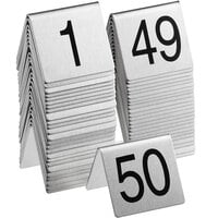 Choice 1 to 50 Stainless Steel Table Tent Signs
