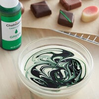 Chefmaster 2 oz. Green Oil-Based Candy Color