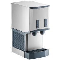 Scotsman HID312AB-1 Meridian Countertop Air Cooled Ice Machine and Water Dispenser with Push Button Dispensing - 12 lb. Bin Storage
