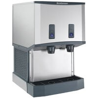 Scotsman HID525WB-1 Meridian Countertop Water Cooled Ice Machine and Water Dispenser with Push Button Dispensing - 25 lb. Bin Storage