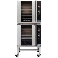 Moffat E32D5/2C Turbofan Double Deck Full Size Electric Convection Oven with Digital Controls and Casters - 208V, 1 Phase, 11.6 kW