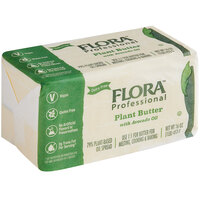 Flora Professional 1 lb. Plant-Based Vegan Butter with Avocado Oil Brick