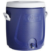 Choice 14.5 Gallon Blue Round Insulated Beverage Dispenser / Portable Water Cooler