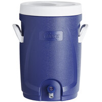 Choice 5.3 Gallon Blue Round Insulated Beverage Dispenser / Portable Water Cooler