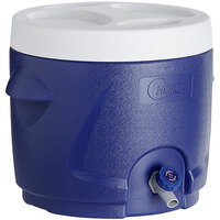 Choice 2.6 Gallon Blue Round Insulated Beverage Dispenser / Portable Water Cooler