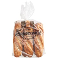 Amoroso's 10 inch Philadelphia Hearth-Baked Whole Grain Unsliced Hoagie Roll   - 48/Case