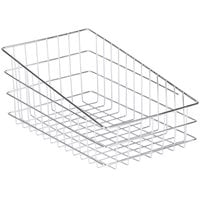 Choice Wire Basket 11 inch x 18 1/2 inch - Slant Top