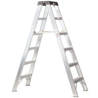 Bauer Corporation 20010 200 Series Type 1A 10' Aluminum 2-Way Step Ladder - 300 lb. Capacity