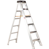 Bauer Corporation 20105 201 Series Type 1A 5' Aluminum Step Ladder - 300 lb. Capacity