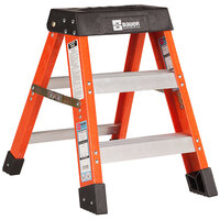 Bauer Corporation 30402 304 Series Type 1A 2' Safety Orange Fiberglass Step Ladder - 300 lb. Capacity