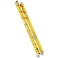 Bauer Corporation 31016 310 Series Type 1A 16' Yellow Fiberglass Extension Ladder - 300 lb. Capacity