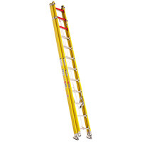 Bauer Corporation 31428 314 Series Type 1AA 28' Yellow Fiberglass Extension / Dual Straight Ladder - 375 lb. Capacity