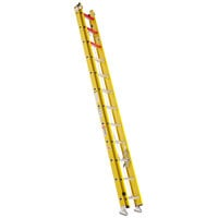Bauer Corporation 31028 310 Series Type 1A 28' Yellow Fiberglass Extension Ladder - 300 lb. Capacity