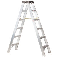Bauer Corporation 20006 200 Series Type 1A 6' Aluminum 2-Way Step Ladder - 300 lb. Capacity