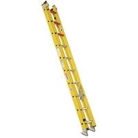 Bauer Corporation 31020 310 Series Type 1A 20' Yellow Fiberglass Extension Ladder - 300 lb. Capacity