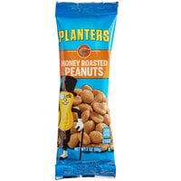 Planters 0.125 lb. Individual Bags of Honey Roasted Peanuts - 144/Case