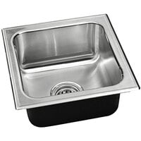 "Just Manufacturing S-1313-A 1 Compartment Stainless Steel Drop-In Sink Bowl - 10"" x 10"" x 7 1/2"""