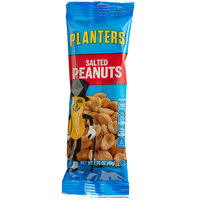 Planters 0.1 lb. Individual Bags of Roasted & Salted Peanuts - 48/Case