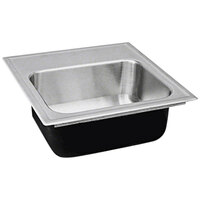 "Just Manufacturing SL-ADA-1815-A-355DCR 1 Compartment Stainless Steel ADA Drop-In Sink Bowl with Rear Center Drain - 12"" x 12"" x 5 1/2"""
