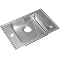 "Just Manufacturing CRA-ADA-1725-A-1165DCR 1 Compartment Stainless Steel ADA Classroom Drop-In Sink Bowl with Rear Center Drain - 16"" x 14"" x 6 1/2"""