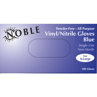 Noble Products 3 Mil Thick Blue Hybrid Powder-Free Gloves - Extra Large - Case of 1000 (10 Boxes of 100)