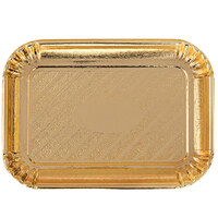 Novacart V9L23103 8 inch x 11 3/16 inch Gold Rectangular Pastry Tray - 200/Case