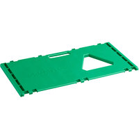 Cerobin 45 Gallon Green Rectangular Interchangeable Compost Receptacle Lid with Open Top and Handle