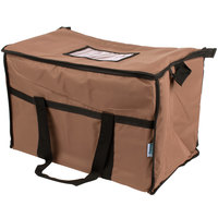 Choice Insulated Leakproof Cooler Bag / Soft Cooler, Brown Nylon, 22 inch x 13 inch x 14 inch