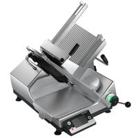 Bizerba GSP HD I W-90-GCB 13 inch Heavy-Duty Illuminated Automatic Gravity Feed Meat and Cheese Slicer with Digital Portion Scale - 1/2 hp
