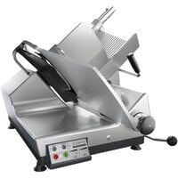 Bizerba GSP HD I 150-GCB 13 inch Heavy-Duty Illuminated Automatic Gravity Feed Meat and Cheese Slicer - 1/2 hp