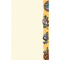 8 1/2 inch x 11 inch Menu Paper - Seafood Themed Buffet Design Right Insert - 100/Pack