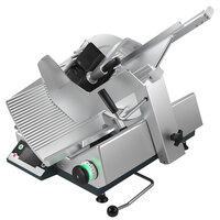 Bizerba GSP HD I W-90 13 inch Heavy-Duty Illuminated Automatic Gravity Feed Meat Slicer with Digital Portion Scale - 1/2 hp