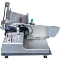 Bizerba GSP HD I 90-GCB 13 inch Heavy-Duty Illuminated Automatic Gravity Feed Meat and Cheese Slicer - 1/2 hp