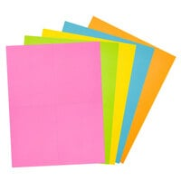 Avery AstroBrights 35704 4 1/4 inch x 5 1/2 inch Postcards, Assorted Colors - 100/Pack