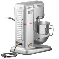 Estella EMIX8G Silver 8 Qt. Programmable Commercial Countertop Mixer with Bowl Guard and Accessories - 120V, 4/5 hp