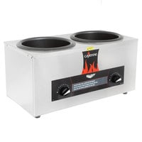 Vollrath 72045 Cayenne Twin 4 Qt. Countertop Warmer 120V, 1000W