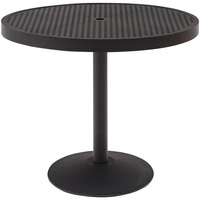 Wabash Valley HA2I71P Hanna Collection 36 inch Round Square-Perforated Portable Pedestal Table