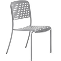 Wabash Valley HA9121P Hanna Collection Gray Square Perforated Chair