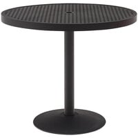 Wabash Valley HA2J71P Hanna Collection 30 inch Round Square-Perforated Portable Pedestal Table