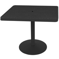Wabash Valley HA2O71P Hanna Collection 30 inch x 24 inch Rectangular Square-Perforated Portable Pedestal Table