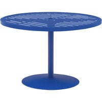 Wabash Valley HA2G79P Hanna Collection 48 inch Round Horizontal Slat Portable Pedestal Table