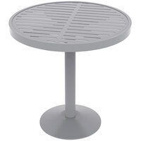 Wabash Valley HA2J79P Hanna Collection 30 inch Round Horizontal Slat Portable Pedestal Table