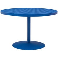 Wabash Valley HA2G71P Hanna Collection 48 inch Round Square-Perforated Portable Pedestal Table