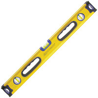 "Swanson BBL240 24"" Yellow Aluminum Box Beam Level with Super Shock End Caps"
