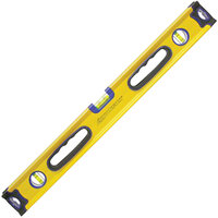 "Swanson BBL48M 48"" Yellow Aluminum Magnetic Box Beam Level with Super Shock End Caps"