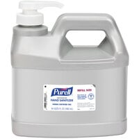 Purell® 9684-04 Advanced Green Certified 64 oz. / 1/2 Gallon Gel Hand Sanitizer Refill Bottle with Pump - 4/Case