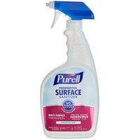 Purell 3341-06 1 Qt. / 32 oz. Fragrance Free Foodservice Surface Sanitizer with (2) Spray Triggers - 6/Case