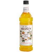Monin 1 Liter Premium Passion Fruit Flavoring / Fruit Syrup